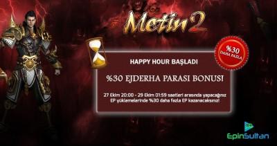 Metin2 Happy Hour Etkinliği 27-29 Ekim | EpinSultan
