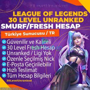 Türkiye 30 Level Unranked Smurf Hesap - TR Server